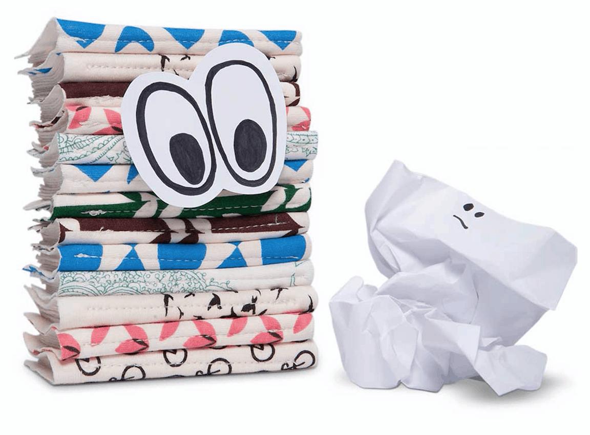 Tissue vs hanky