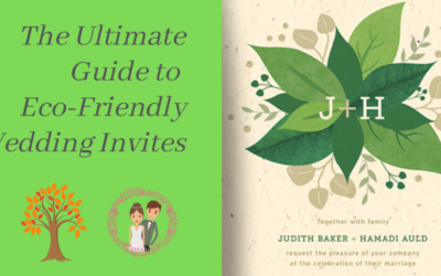 The ultimate guide to eco-friendly wedding invitations