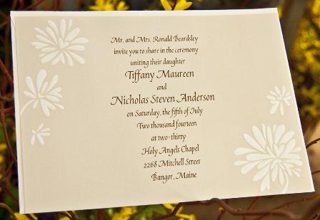 Eco-friendly wedding invite