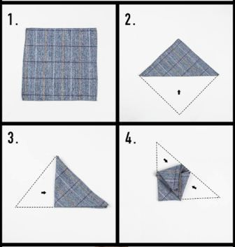 Pocket square folding method