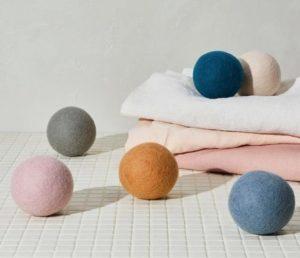 Colorful dryer balls